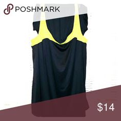 Black and neon yellow swim dress by Swim 365 Color Block style swim dress with matching briefs, EUC Swim 365 Swim