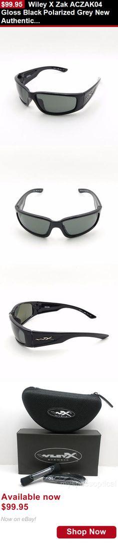 Unisex accessories: Wiley X Zak Aczak04 Gloss Black Polarized Grey New Authentic Sunglasses BUY IT NOW ONLY: $99.95