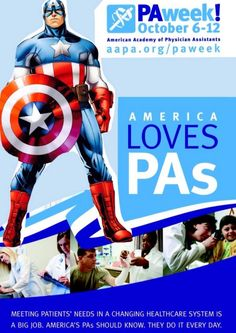 Even Captain America knows America Loves PAs! #PAweek   h/t @physicianassist for sharing this on Twitter