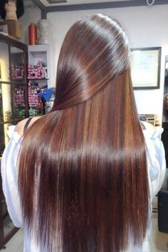 Tips For Changing Your Hairstyle – Hair Wonders Tiger Eye Pelo, Mechas Tiger Eye, Tiger Eye Hair Color, Long Silky Hair, Long Dark Hair, Beautiful Long Hair, Gorgeous Hair, Pretty Hairstyles, Straight Hairstyles