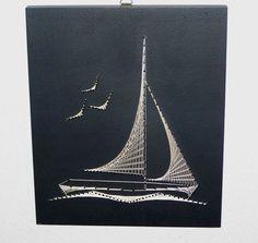 Résultats de recherche d'images pour «string art simple sailboat»