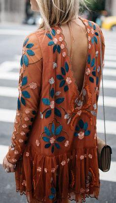 embroidered boho dress.