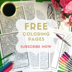 For people who are seeking zen. Relaxing + joyful FREE COLORING PAGES. Subscribe now!