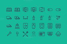 650 Vector Contour Icons