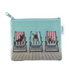 Deckchair Dogs Zip Purse | CatsEye US