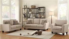 Shop Home Elegance Adair Beige Sofa with great price, The Classy Home Furniture has the best selection of to choose from 3 Piece Living Room Set, Living Room Sets, Bedroom Sets, Teal Furniture, Living Room Furniture, Home Furniture, 3 Piece Sofa, Beige Sofa, Wood Sofa