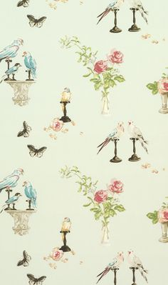 love this Nina Campbell wallpaper - it was used brilliantly at Miette