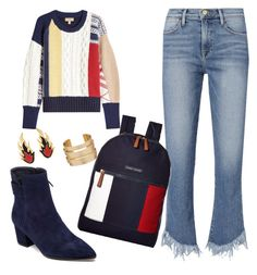 """90s"" by fridalak on Polyvore featuring Burberry, Frame, VANELi, Tommy Hilfiger and AMBUSH"