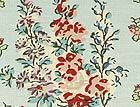 Hollyhock fabric and wallpaper in Aqua and Red by Anna French - so pretty.