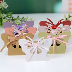 HAVE Butterfly Favor Box With Cut–outs (Set of 12) – USD $ 1.95