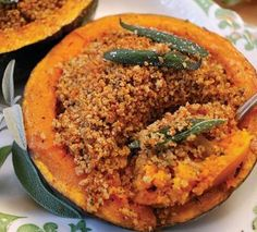 Gluten Free and Gout Friendly Roasted Squash with Sage Bread Crumbs