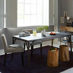 Arbor Table w/ Patched Metal Top #westelm