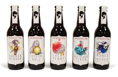 The Bearded Lady Microbrewery Label Designs
