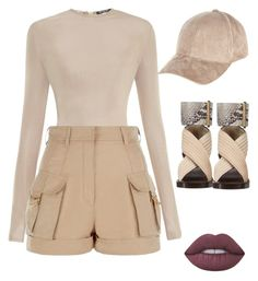 """""""Summer time nudes"""" by brittni-morrison on Polyvore featuring Balmain, Calvin Klein, River Island and Lime Crime"""