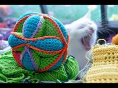 One of the coolest bits of crocheted engineering I've ever seen. It's a crocheted version of the traditionally quilted Amish baby puzzle ball. I have to make this! Video in German, pattern in English, just watch to see how it's put together.