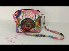 Tuto coudre un petit sac à bandoulière - Tuto Couture Madalena - YouTube