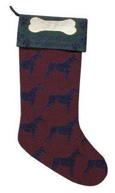 "$19.99-$29.99 Dog Lovers Doberman Pinscher Christmas Stocking 18"" -  http://www.amazon.com/dp/B002RBV5PE/?tag=pin2wine-20"