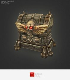 Low Poly Treasure Chest - Large - 3DOcean Item for Sale