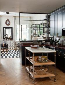 WSH loves the three tiered kitchen island. Via Nate Berkus.