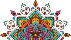 Mandala Art, My Little Girl, Pattern Art, Holi, Decoupage, Arts And Crafts, Logo Design, Stickers, Wall Art