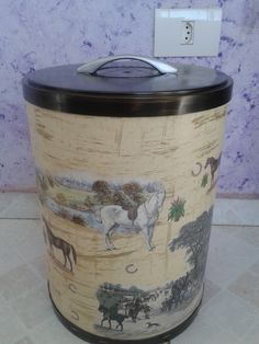 Decoupage, Craft Organization, Drum Shade, Christmas Projects, Recycling, Facebook, Crafts, Home Decor, Arts And Crafts