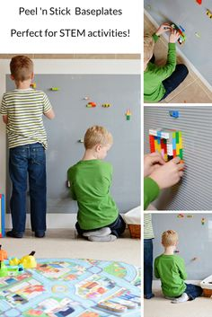 the stress out of STEM Activities with self-adhesive LEGO Compatible peel 'n stick baseplates. Build a LEGO Compatible wall or table as easy as peel, stick, play. NO Glue Required!