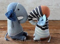 Socken-Elefanten | Gratis Nähanleitung