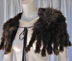 Victorian, Edwardian Gatsby 1920s Ostrich Marabou Cape, Capelet, Charming