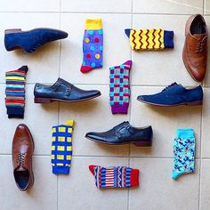 From the one suit every man needs to the best dress shoes, we've selected the most important work wardrobe essentials every stylish man should have in his wardrobe. Sock Shoes, Men's Shoes, Shoe Boots, Dress Shoes, Work Wardrobe Essentials, Men's Wardrobe, Funky Socks, Colorful Socks, Fashion Socks