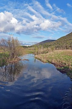 Blue skies and big skies near Bird's Eye Mountain in Castleton, Vermont by Sue Zamecnik