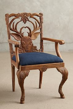 Handcarved Menagerie Deer Armchair - anthropologie.com