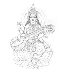 13805255661779500275saraswati___sketch_by_coconutpocky.jpg (629×678)
