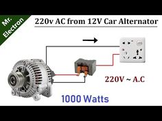 Basic Electrical Wiring, Electrical Circuit Diagram, Alternative Power Sources, Alternative Energy, 12v Generator, Denso Alternator, Off Grid System, Solar Power Inverter, Electronic Circuit Projects