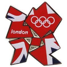 Summer London Olympics 2012 Union Jack Flag Emblem Collector Pin