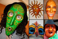 Masks made by Ingrid Burkett, Australia