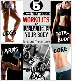 """5 Beginner Gym Workouts to Tone and Tighten - dietandskinhelp.org -  Our Weekly Workout Plans feature just a few of my many workouts on Tone and Tighten Click here to see them all!  Hey everyone! And welcome to another """"Weekly Workout Plan"""" here on Tone-and-Tighten.com! This week I'm dedicating to the gym. I've been getting a lot of emails lately from people saying things like """"When I go to the gym I just don't know where to start"""" an"""