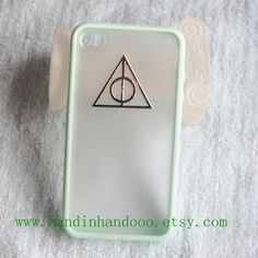 Iphone 5c Case,Harry Potter Deathly Hallows Iphone 4/4s/5/5s/5c Case, iPhone Case 4/4S/5/5s/5c mint green color frosted translucent case