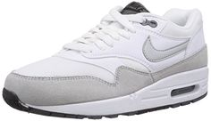 Nike Air Max 1 Essential, Damen Sneakers, Weiß (White/Grey Mist-Dark Grey-Black 111), 38.5 EU (5 Damen UK) - http://uhr.haus/nike/38-5-eu-nike-air-max-1-essential-damen-sneakers