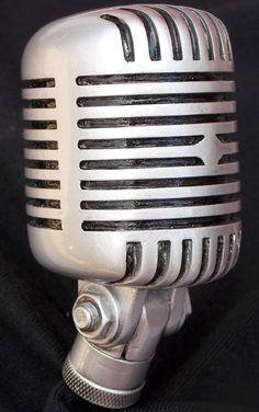 Vintage Microphone Shift Knob Hot Rod Rat Rod Custom Car Truck