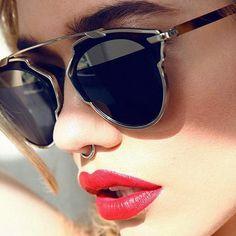 Cat Eye Alloy Frame Original Brand Designer Sunglasses So Real Polarized Sun Glasses Vogue Polaroid Lens Oculos De Sol B9040