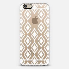 White Tribal Translucent Diamonds | @casetify