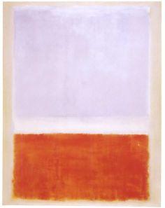 Mark Rothko, Untitled (Lilac and orange over ivory), 1961