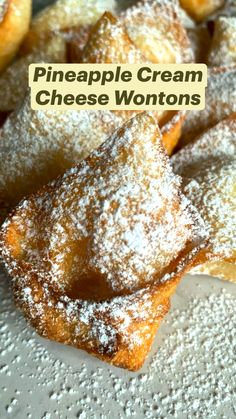 Just Desserts, Delicious Desserts, Yummy Food, Appetizer Recipes, Dessert Recipes, Wonton Recipes, Appetizers, Cream Cheese Wontons, Sweet Recipes