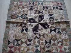 Dutch patchwork coverlet ca.1780, from the manor Frankenstein in AMsterdam
