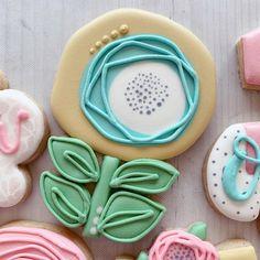 Mother's Day Cookies, Summer Cookies, Fancy Cookies, Iced Cookies, Cute Cookies, How To Make Cookies, Cupcake Cookies, Cookies Et Biscuits, Cupcakes