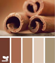Cinnamon Tones - http://design-seeds.com/index.php/home/entry/cinnamon-tones1