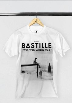 """WILD WORLD"" B&W TOUR T-SHIRT 
