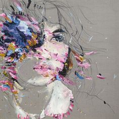 judith geher : painting : 2010 (ILLUSTRATION OF US WOMEN MADE OF FLOWERS)