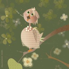 Anita Anís little nightingale by Teresa Coll Sanmartín, via Behance
