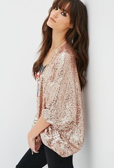 Sequined Open-Front Jacket   FOREVER21 NYE